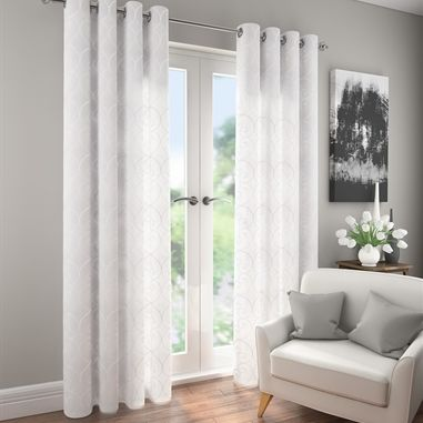 Give Your Living Room A Lift With Pair Of New Ophelia White Eyelet Curtains
