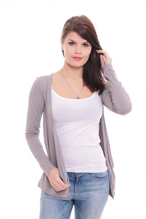 Кардиган А5780 Размеры: 44-54 Цвет: серый Цена: 300 руб.  http://optom24.ru/kardigan-a5780/  #одежда #женщинам #кардиганы #оптом24