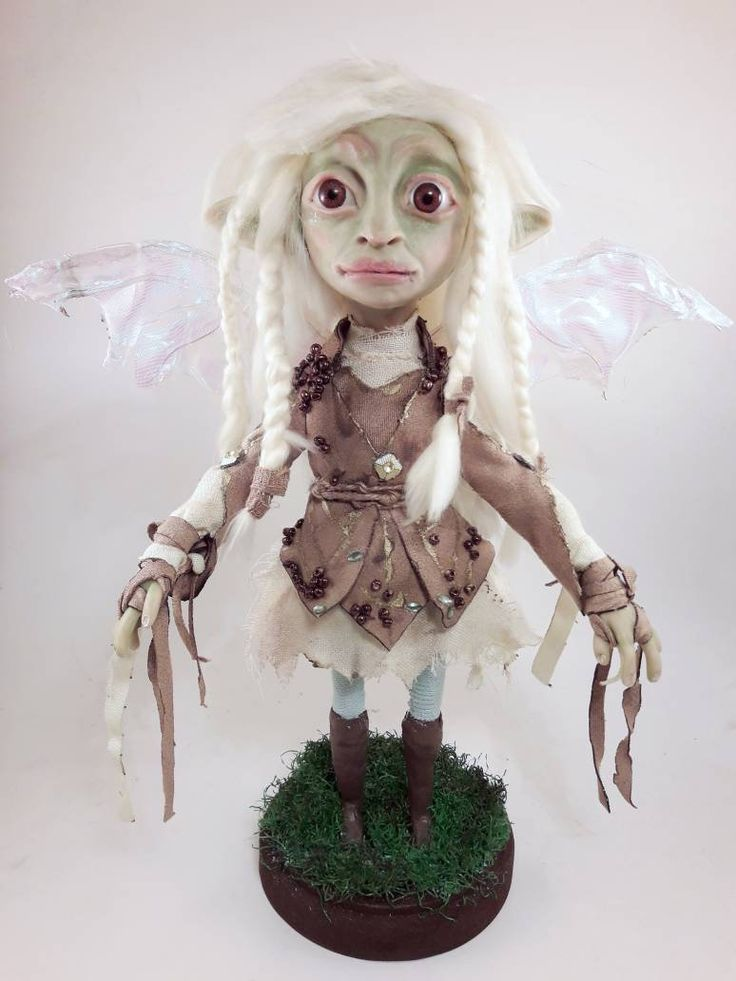Inspired Deet Dark Crystal Age Of Resistance Gelfling Grottan Clan Polymer Clay Sculpture Artdoll The Dark Crystal Clay Sculpture Gothic Dolls