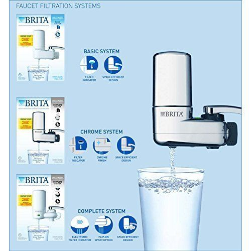 Brita Faucet Water Filter System with Light Indicator, Chrome from Brita - Reverse Osmosis Systems