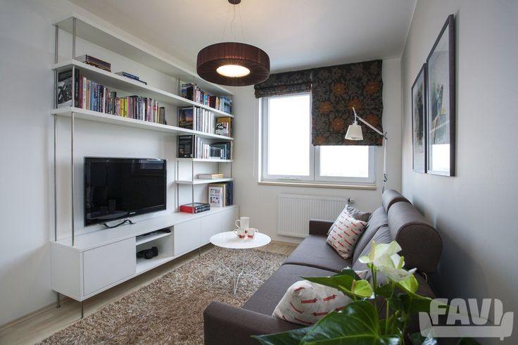 Moderní obývací pokoje inspirace - Byt se zahradou na terase | Favi.cz