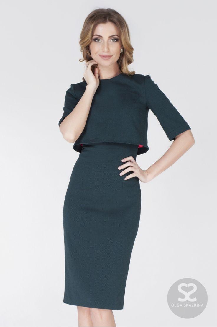 Стильное платье футляр с болеро от дизайнера   Skazkina