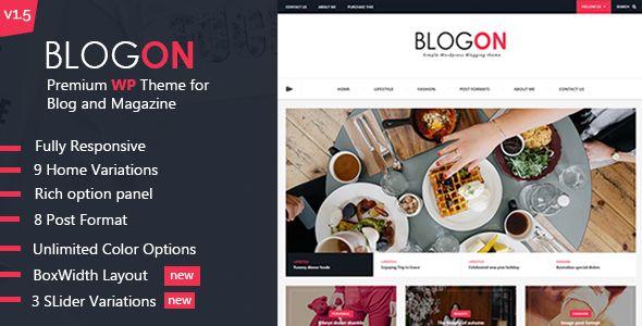 Blogon - A Responsive WordPress Blog Theme