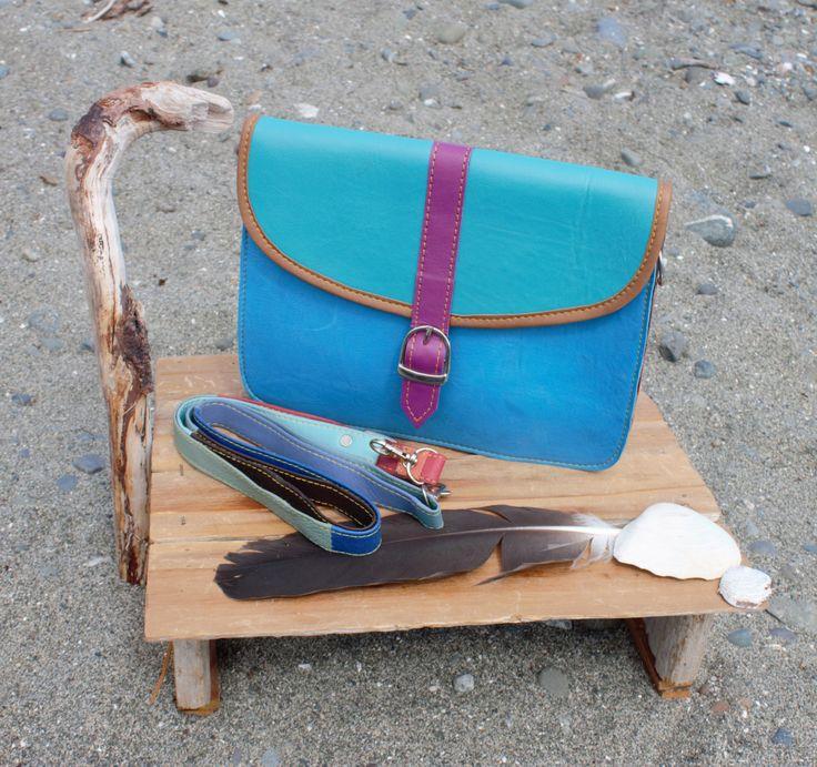 Super cute Color patchwork Leatherladies  purse handbag crossbody clutch by…