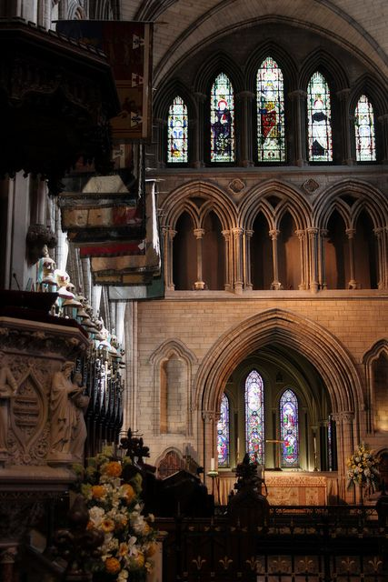 Saint Patrick's Cathedral, Dublin, Ireland - part of my husband's ancestry is Irish Catholic and on my side Scots-Irish. We have a mixed marriage!