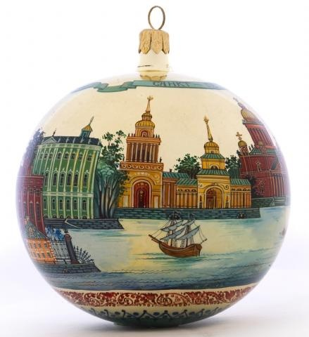 St.Petersburg, Russia - collectible glass lacquer painted ornament