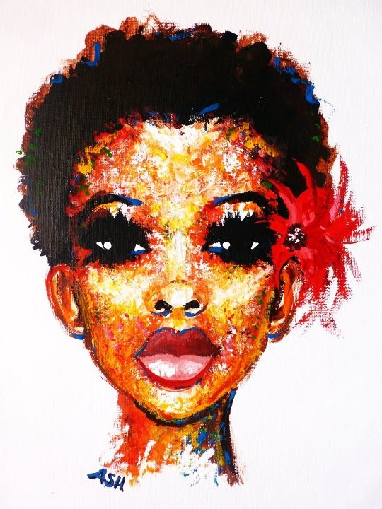 Image result for afro pictures natural hair painting