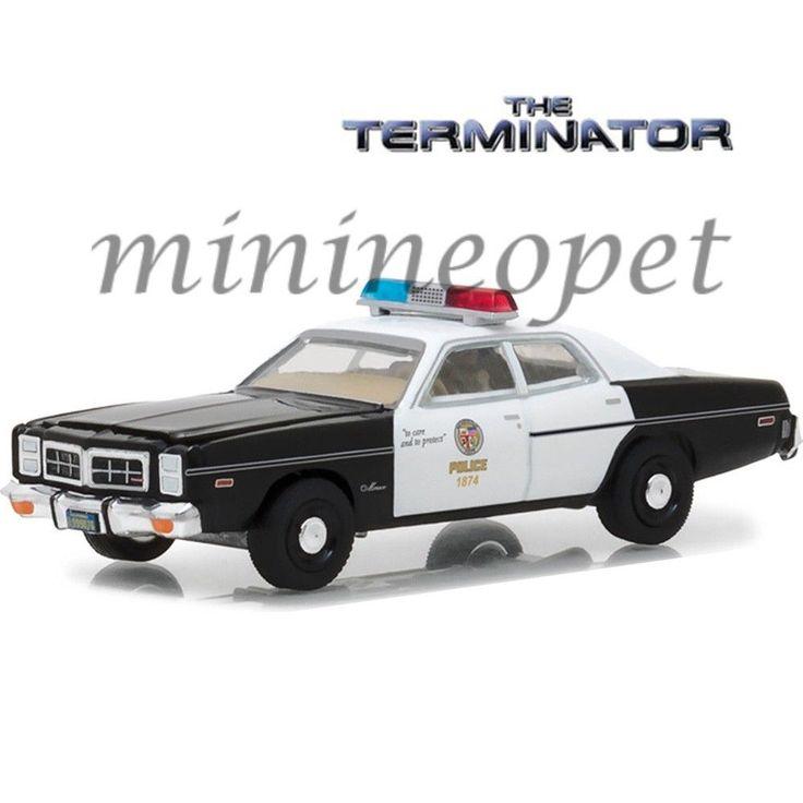 GREENLIGHT 44790 C THE TERMINATOR 1977 DODGE MONACO METRO POLICE CAR 1/18 BK WH #GREENLIGHT #DODGE