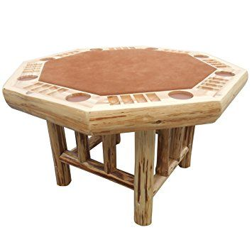 Cedar 6 Sided Poker Table Log Furniture Rustic Game Tables