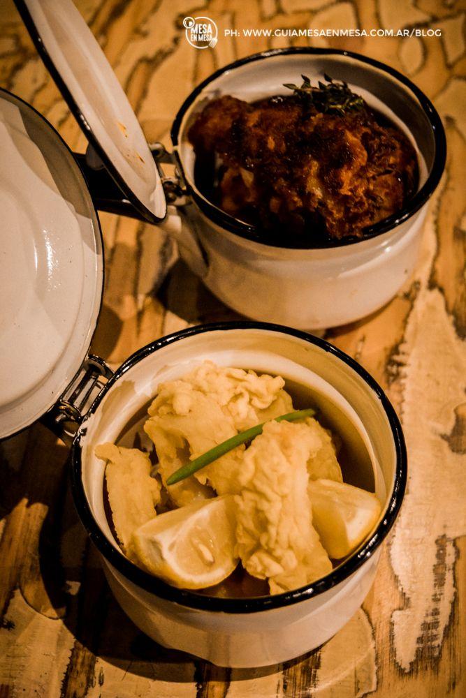 Rabas / Alitas de Pollo Rebozadas y Fonduta de Tomates Lander Bistró y Bar #LaPlata Ph: Guía Mesa en Mesa