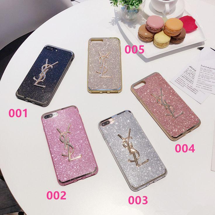 欧米贅沢なおしゃれ風 イヴ・サンローラン キラキラ iPhone7/7 plusケース アイフォン6s/7 プラス シリコン製 ソフトカバー 可愛い