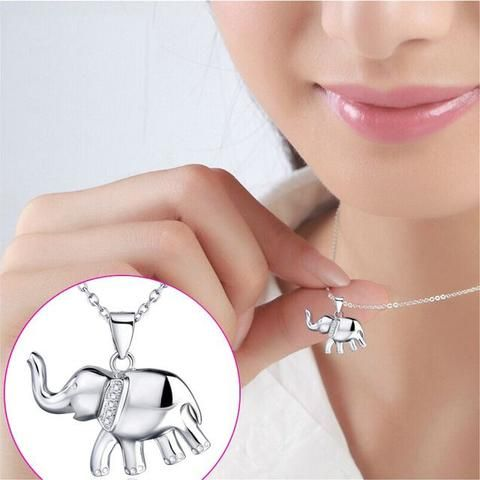 $37.50 Tiny Elephant Charm Sterling Silver Necklace. Collectors Are Always On The Lookout For These Whether it's a gift for someone else or you've decided elephants are your thing, this 925 Sterling Silver necklace is a must have! Get It Now!