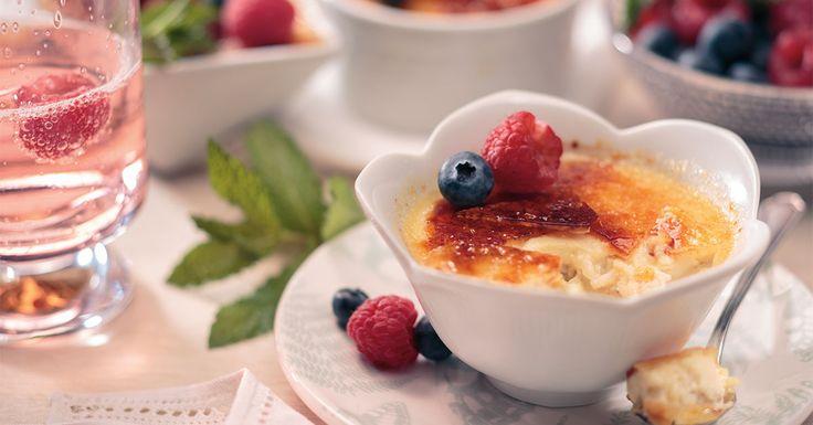 Decadent crème brûlée marries together with creamy Jasmati® Rice pudding.