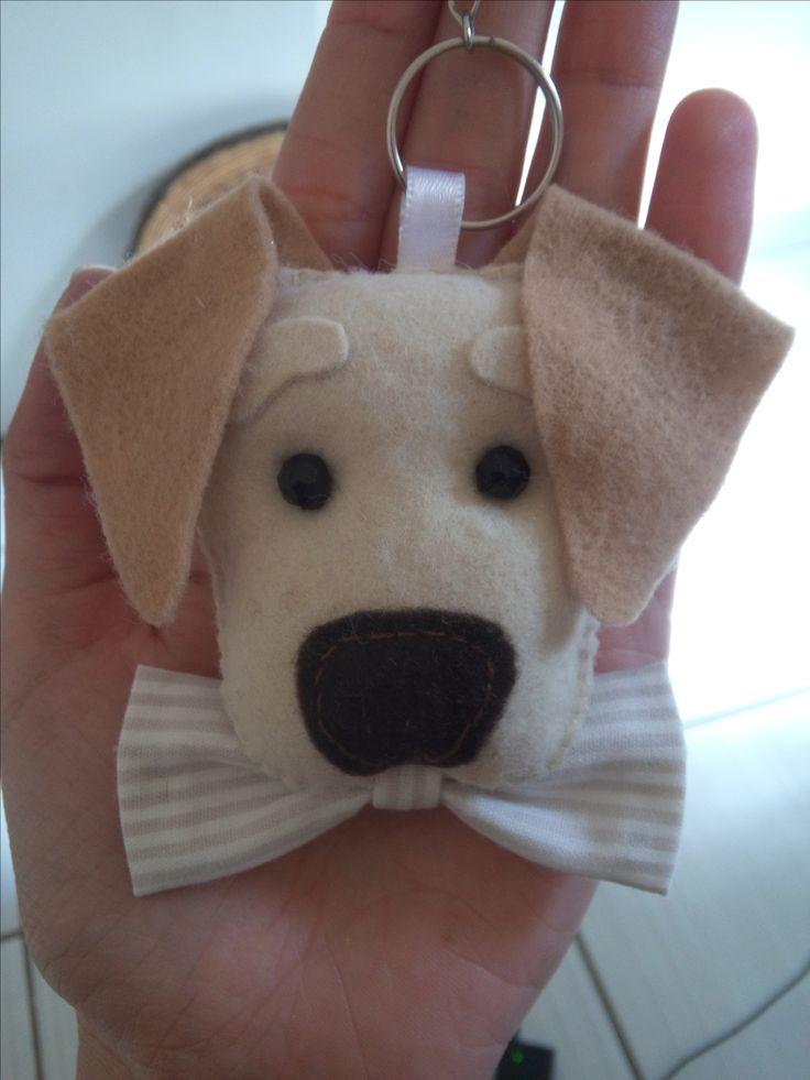 chaveiro de cachorrinho em feltro para lembrancinhas personalizados