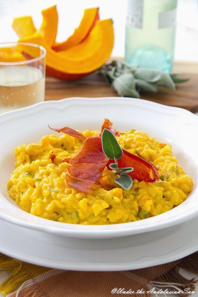 Andalusian auringossa-ruokablogi: Kurpitsarisotto  http://www.andalusianauringossa.com/2014/10/kurpitsarisotto.html