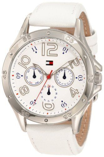 Tommy Hilfiger Women's 1781177 White Multi-Eye Dial Leather Strap Watch Tommy Hilfiger, http://www.amazon.com/dp/B0079J1TDW/ref=cm_sw_r_pi_dp_3Mnzqb01S3GP8