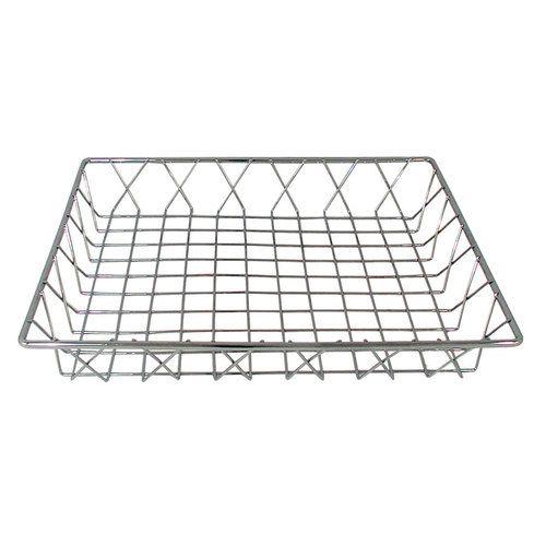 "14"" x 12"" Rectangular Chrome Pastry Basket"