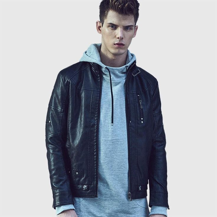 ICYMI: Men Leather Jacket Winter PU leather Jackets Casual Coats Jaqueta Masculina Cour