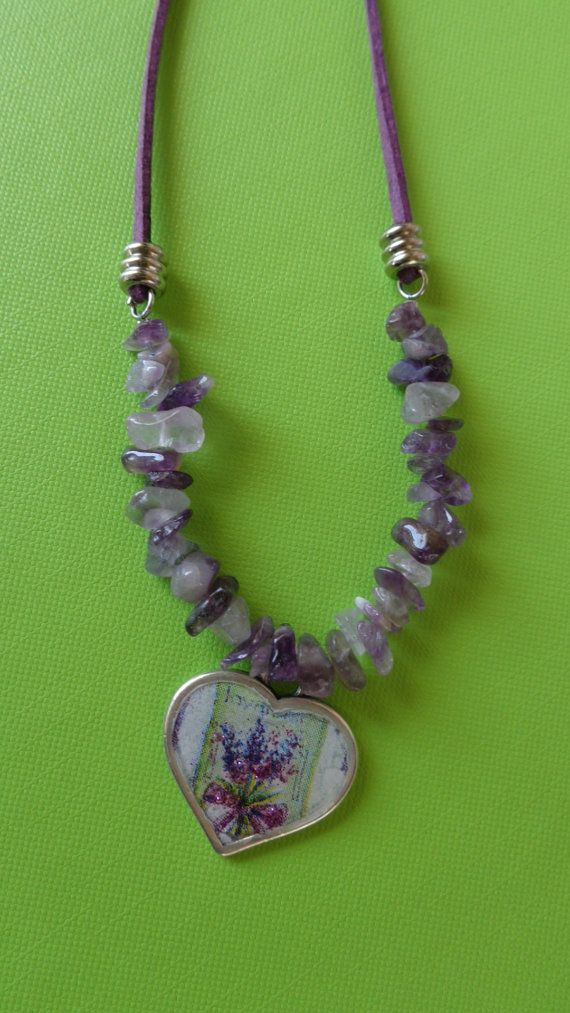 Purple Confusion necklace lavender heart by ArtisticBreaths