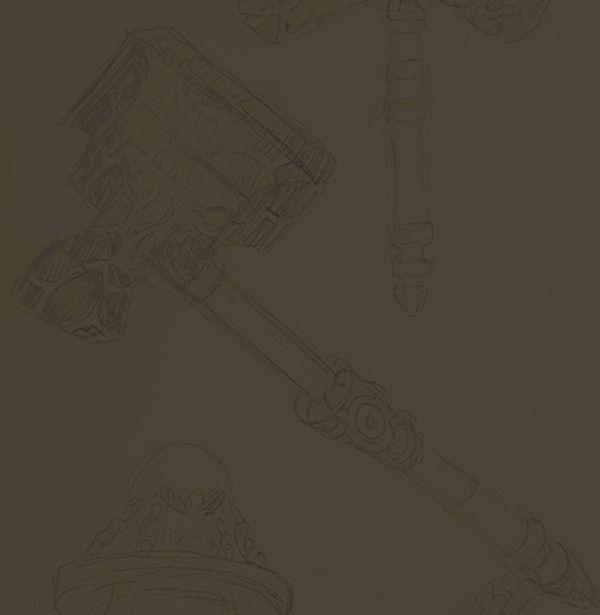Ich arbeite zur Zeit an mehreren Projekten. Eines davon ist für das Earthdawn Fanwork gedacht. Dabei werden nach und nach Gegenstände entstehen. Dieses Mal habe ich einen Hammer für euch, dessen Inneres aus flüssigem Gestein besteht.   #cardillustration #earthdawn #hammer #illustration #pen and paper #pnp #waffe #weapon