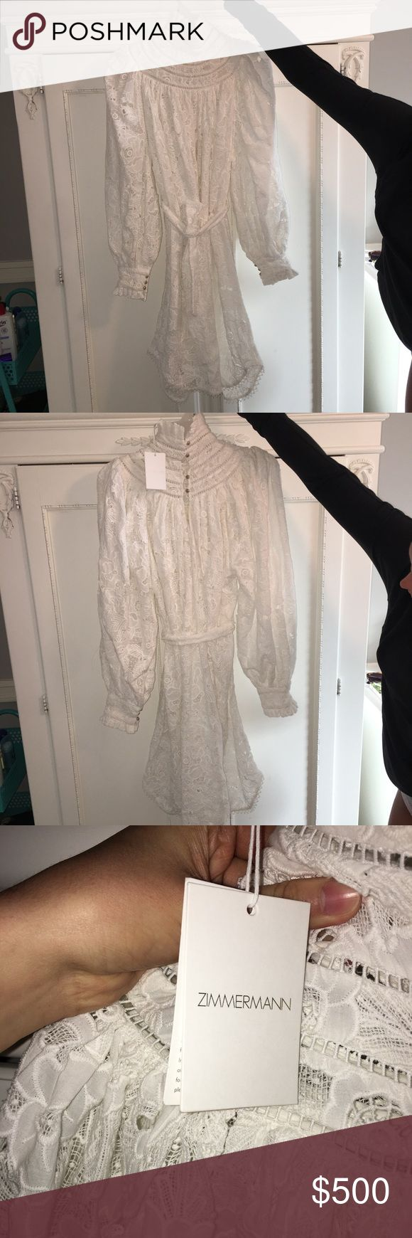 Zimmermann Master Chemisette Tunic Brand new with tags, excellent condition. Incredible, high end quality. Perfect for spring or summer. Size 4-6. Zimmermann Dresses