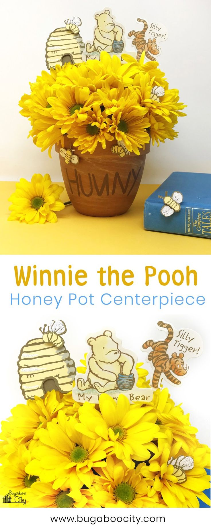 Winnie The Pooh Honey Pot Centerpiece  Birthday Party -5741