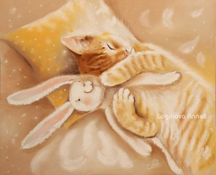 Soft and fluffy cats of Annet Loginova https://www.etsy.com/people/AnnetPainting   http://www.livemaster.ru/l-annet Annet Loginova