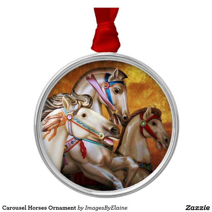 Ornamento de los caballos del carrusel ornamentos para reyes magos