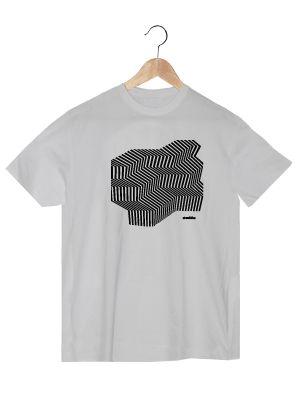 Camiseta de algodón orgánico en color blanco para chico GEBH  www.strambotica.es