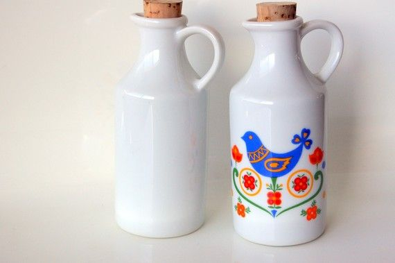 Ceramic Bluebird Cruet Set from bitofbutter