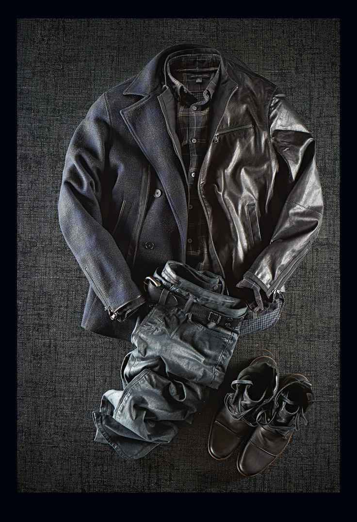 John varvatos leather driving gloves - John Varvatos Shadow Check Peacoat 698 Moto Leather Jacket 798 Two Faced Check