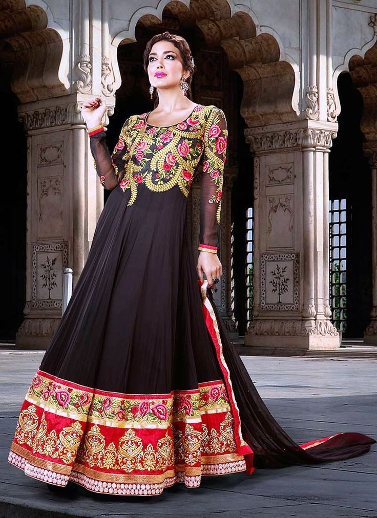 Latest and stylish anarkali frocks for ladies girls - Sari Info