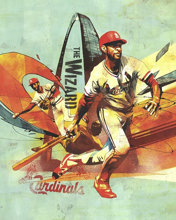 An Artistic Look at Major League Baseball - Ozzie Smith - Photo: Art by Dragon76