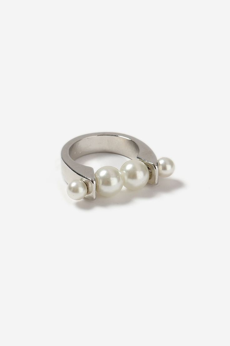 Pearl Bar Ring - Bags & Accessories- Topshop Europe