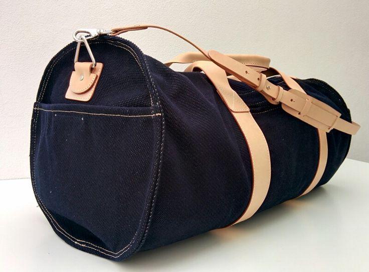 AVIATOR. #selvedge #32oz #canvas #italian #leather #duffle #bag #vintage #travel #adventure #madeinitaly #denim #indigo habanerorucksacks.com