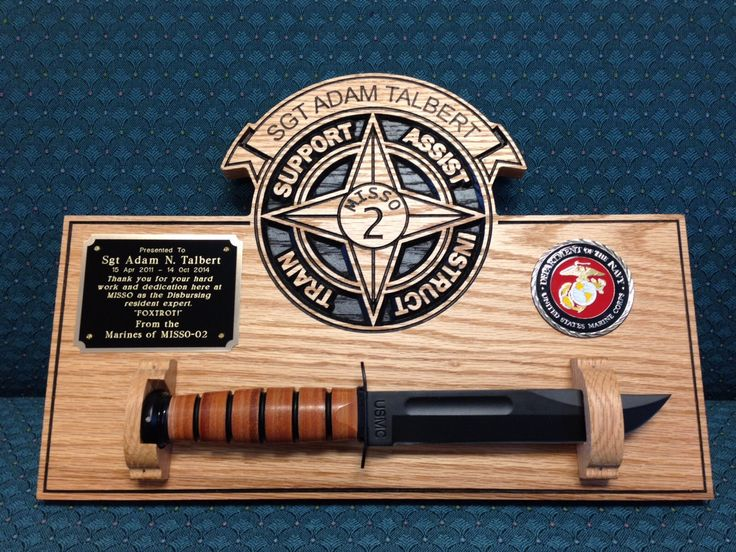 Military Carved Plaque: Marine Corps Army Navy Air Force wood sign personalized knife plaque by CoastalGlassAndMill on Etsy
