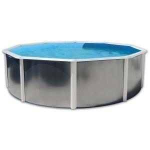 SILVER LUNA BLANCHE Piscine en acier circulaire 350X120 - Achat / Vente piscine Piscine hors sol en acier - Cdiscount