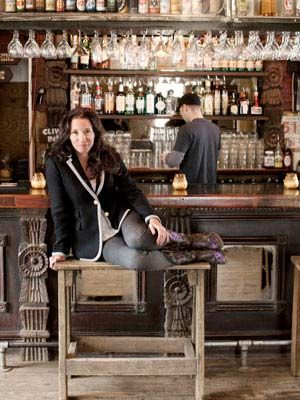 """This is hilarious, she decorated her """"saloon"""", Lustre Pearl, in Austin, with crystal chandeliers, and antique bar, and picnic tables out back. She has created a home away from home for her patrons, they say """"it's like going to their Grandparents""""! I want a bar in my dream house"""