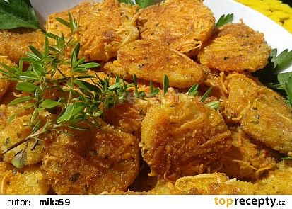 Pečené křupavé brambory se sýrem recept - TopRecepty.cz