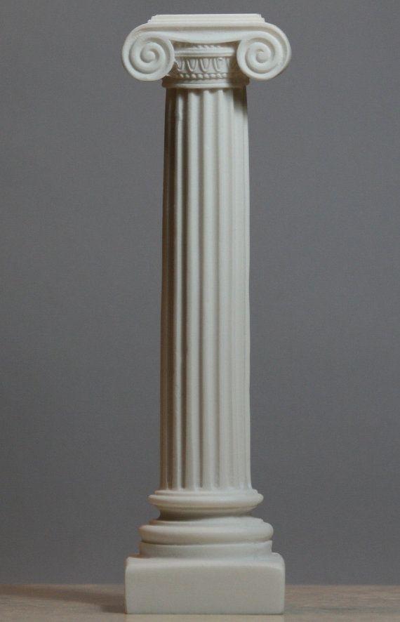 greek ionic order column pillar pedestal statue alabaster