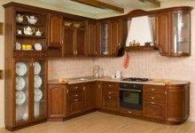 dapur kayu minimalis lengkung dengan Pantri - SUKMO MEBEL JEPARA