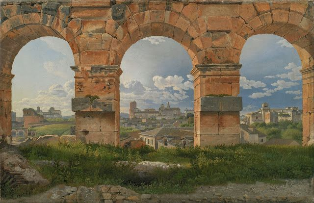 Christoffer Wilhelm Eckersberg. A View through Three Arches of the Third Storey of the Colosseum 1815 Statens Museum for Kunst | ARScentre