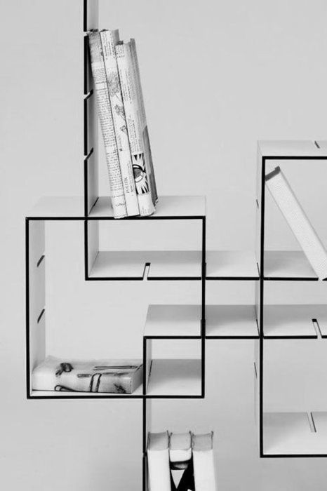 design inspiration in black & white: storage | storage . Regal . étagère | @ universal blueprint |