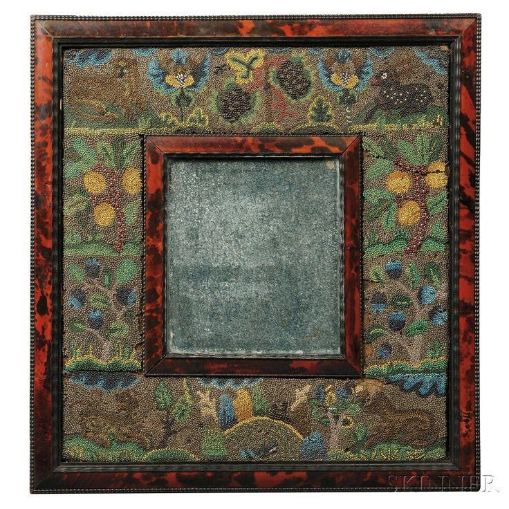 Folk Art Glass Beaded Mirror | Sale Number 2786B, Lot Number 29 | Skinner Auctioneers