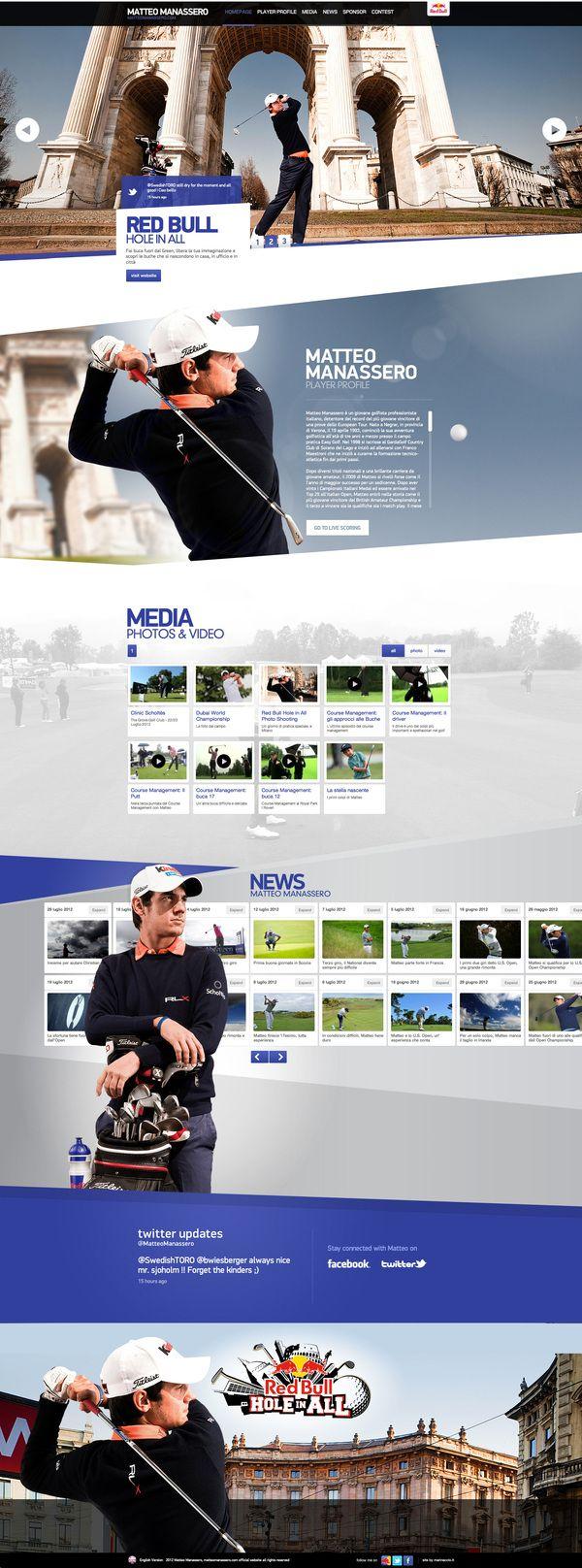 Matteo Manassero Official Website by Danilo Marinaccio, via Behance