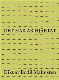 """För första gången på 22 år utkommer en ny diktsamling av Bodil Malmsten. Det här är hjärtatutkommer den 24 mars, 2015.Det här är hjärtatges ut av Rönnells Antikvariat och Albert Bonniers Förlag i ett unikt samarbete. Anders Ljungman står för typografi och omslag.""""Det här är hjärtat är en kärleksdikt, en sorgedikt, en dikt när den orimliga förlust som kallas döden drabbar, den drabbar alla, den drabbade mig. Jag skriver inte dikter längre, men den här dikten krävde att jag skrev den.""""…"""