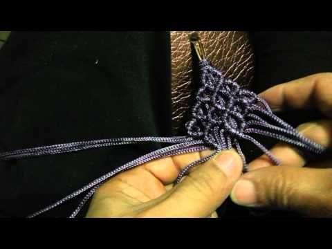 Sandalias tejidas con macrame parte 2 - YouTube