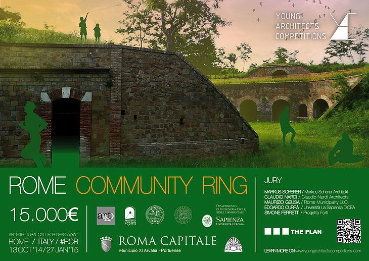Register early for the Rome Community Ring open competition, architects, designers, students | ARCH-student.com