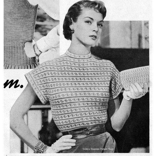 134 best Knitted Blouse Tops Patterns, Vintage images on ...