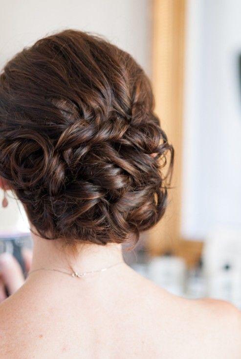 20 Glamorous Wedding Updos 2017 - Romantic Wedding Hairstyle Ideas | Updo Wedding And Loose Curls